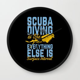 Funny Scuba Diving Diver Instructor Gift Wall Clock