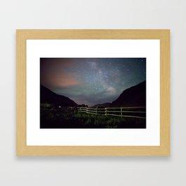 Wyoming Stars Framed Art Print