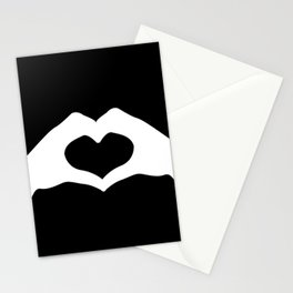 Hands making a heart shape- portraying love Stationery Cards