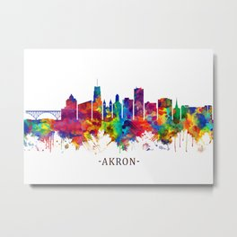 Akron Ohio Skyline Metal Print