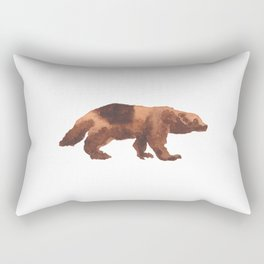Les Animaux: Wolverine(s) Rectangular Pillow