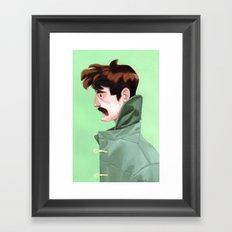 Brunette Man Framed Art Print