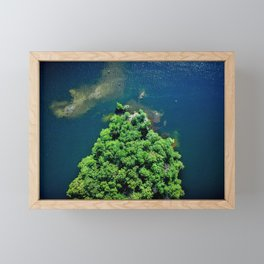 Archipelago Island - Aerial Photography Framed Mini Art Print