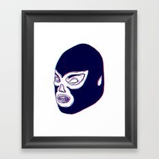 Lucha Libre Mask Framed Art Print
