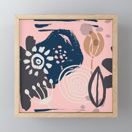 Abstract Leaves and Flowers VI Framed Mini Art Print