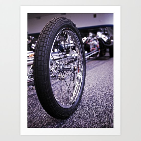 Drag racer wheel Art Print
