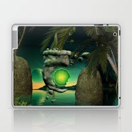The flying rock with clock Laptop & iPad Skin