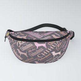 Chihuahua Word Art Fanny Pack