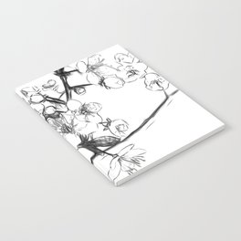 Cherry Blossoms Minimal Drawing Notebook
