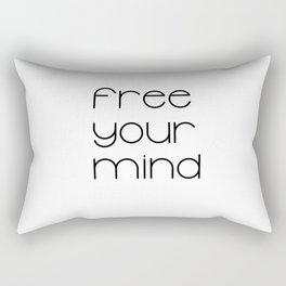Free Your Mind (Black) T-Shirt Rectangular Pillow