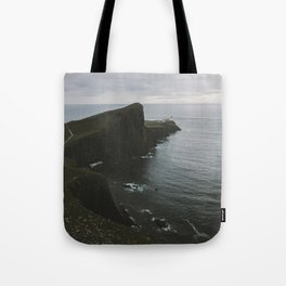 Neist Point Lighthouse at the Atlantic Ocean - Landscape Photography Tote Bag