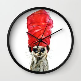 Red Turban Wall Clock
