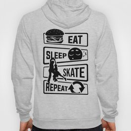 Eat Sleep Skate Repeat - Figure Skating Winter Ice Hoody