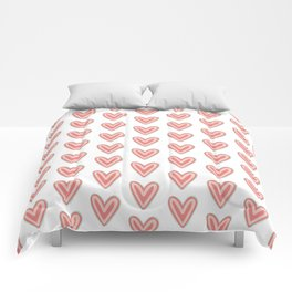 I Heart You in Pink and Coral Comforters
