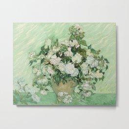 Vincent van Gogh - Roses Metal Print