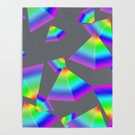 Floating Rainbow Pyramid Poster