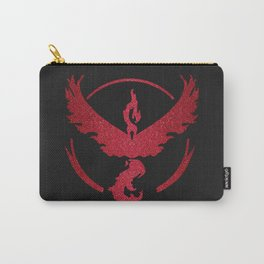 Team Valor Sparkly red sparkles Carry-All Pouch