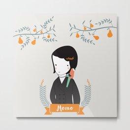 Momo Metal Print