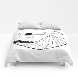 Paysage rond 1 Comforters