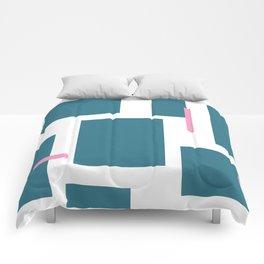 Geometric Ties Comforters