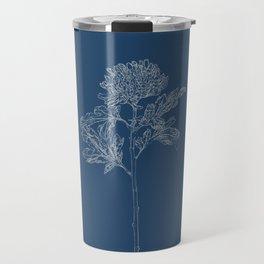 Chrysanthemum Blueprint Travel Mug