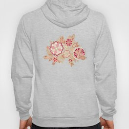 Golden Embroidery Flowers Hoody