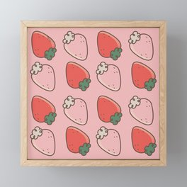 Strawberries Framed Mini Art Print
