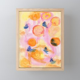Mountains of light Framed Mini Art Print