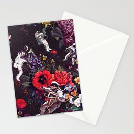 Flowers and Astronauts Stationery Cards