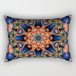 BBQSHOES: Kaleidoscopic Fractal Digital Art Design 1702K Rectangular Pillow