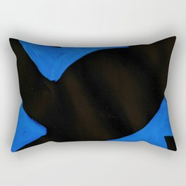 The Crown of Basquiat, Abstract, Electric Blue Rectangular Pillow