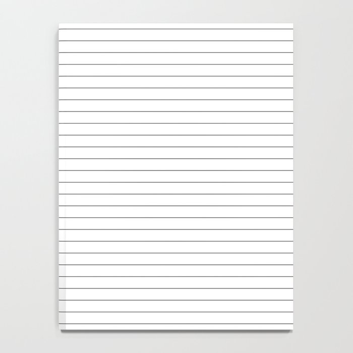 White Black Lines Minimalist Notebook