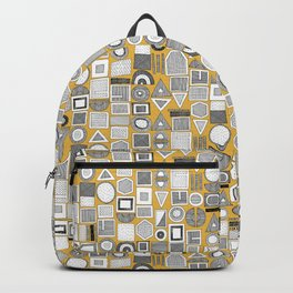frisson memphis bw yellow dash Backpack
