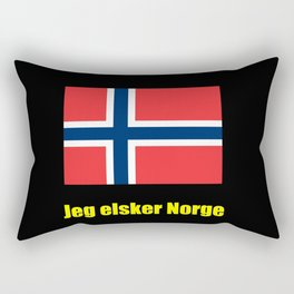flag of norway 3 snow,scandinavia,scandinavian,norwegian,oslo Rectangular Pillow