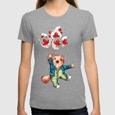 Bob's Balloons  Tri-Grey SMALL Womens Fitted Tee