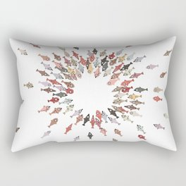 Cute Coloful Fishes Rectangular Pillow
