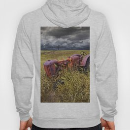 Abandoned Farm Tractor on the Prairie Hoody
