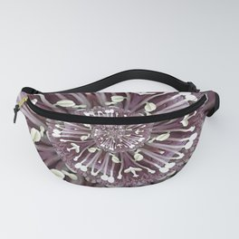 Hellebore Spiral - Abstract Photographic Art by Fluid Nature Fanny Pack