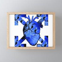 blue heart Framed Mini Art Print