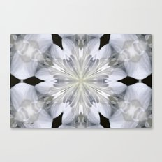 White Arctic Queen Kaleidoscope Canvas Print