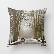 A walk through the park II Throw Pillow