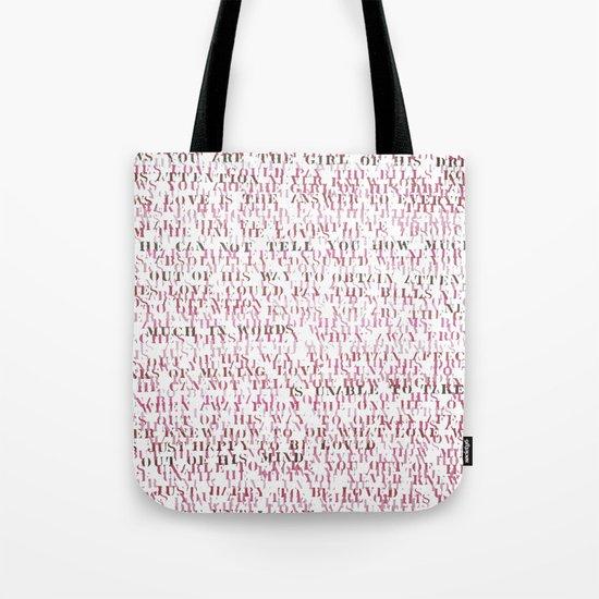 Sentences of Love Red Tote Bag