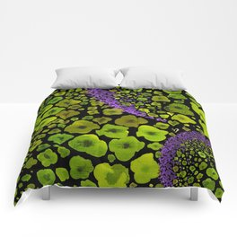 Paths of Color [green & purple] Comforters