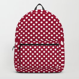 Red and Polka White Dots Backpack