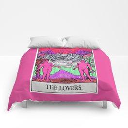 6. The Lovers- Neon Dreams Tarot Comforters