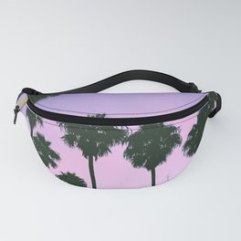 Palm Tree Purple Sunset Fanny Pack