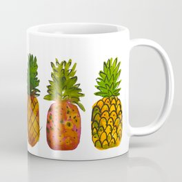 Boho  Loosely Painted Watercolor Pineapples  Coffee Mug