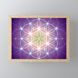 Purple Flower of Life Framed Mini Art Print