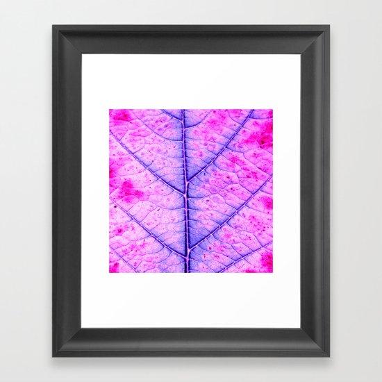 leaf abstract IV Framed Art Print