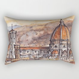Florence ink & watercolor illustration Rectangular Pillow